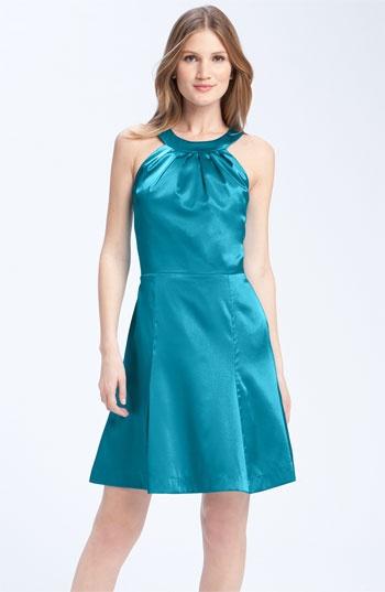 Anna Elyse Bridesmaids Charmeuse Halter Bridesmaid Dress #wedding