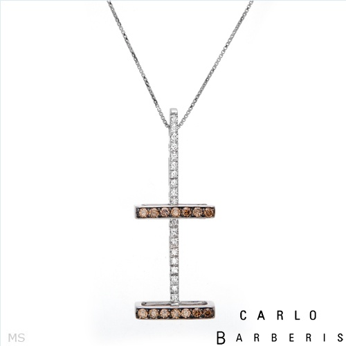 $1,149.00  Carlo Barberis! Made in Italy Brand New Majestic Necklace with 1.04ctw Super Clean FG/VVS Diamonds Made of 18K Gold