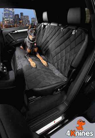 If your dog loves to go for car rides the 4Knines Dog Seat Cover will help protect your seats from fur and dirt! www.4Knines.com