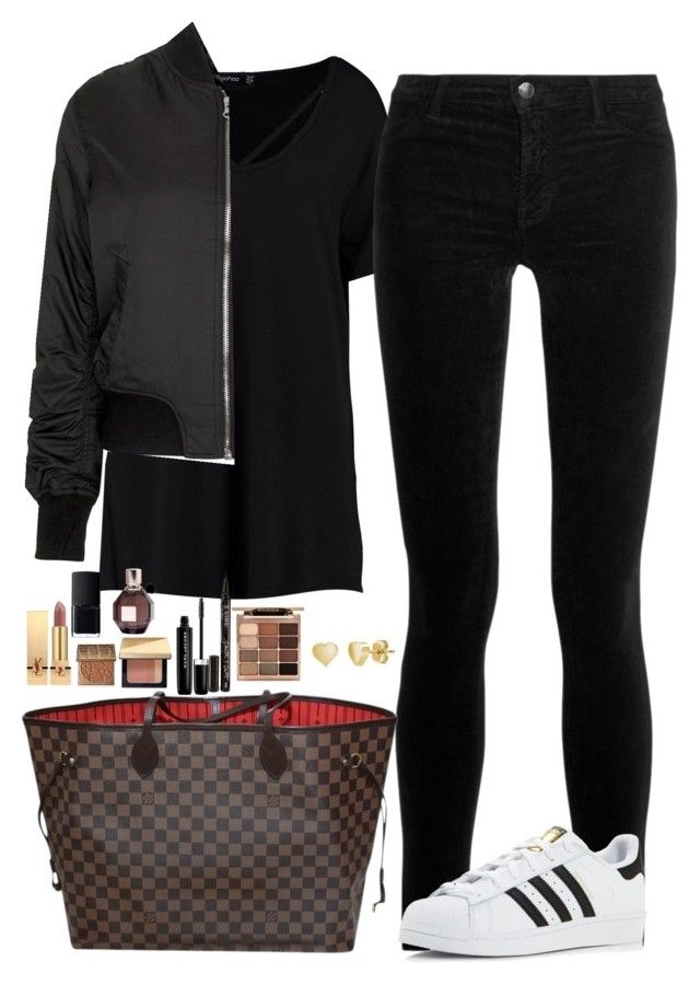 """""""Untitled #467"""" by mariapangal on Polyvore featuring Boohoo, J Brand, Topshop, adidas, Louis Vuitton, BERRICLE, Stila, Smith & Cult, Marc Jacobs and Bobbi Brown Cosmetics"""