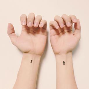 Need a key to open that locker... #key #keyhole #hand #arm #drawing #design #sign #tattoo #heart #art #pen - menggelai via Instagram