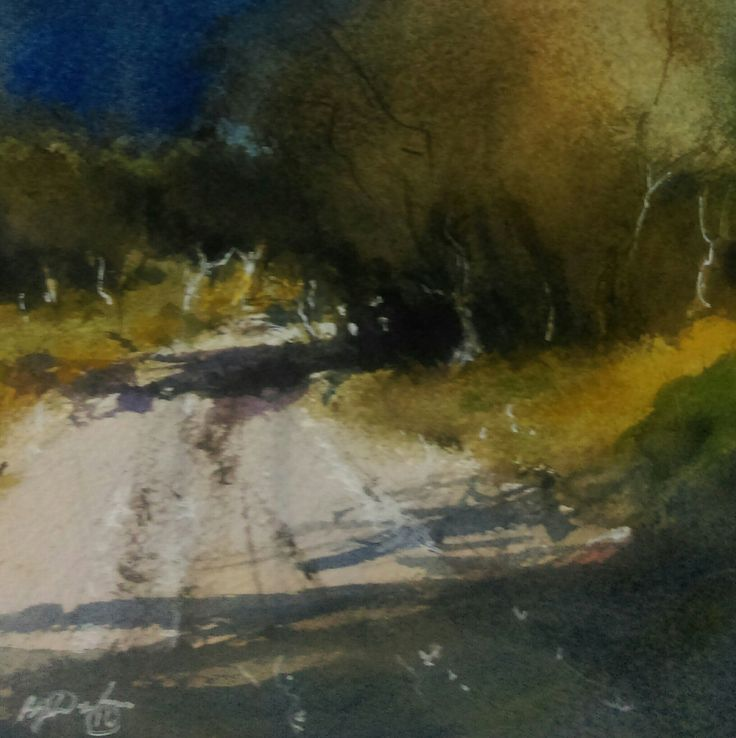 """""""  AFTERNOON ON A DIRT ROAD"""" by Brian Dickinson. Paintings for Sale. Bluethumb - Online Art Gallery"""