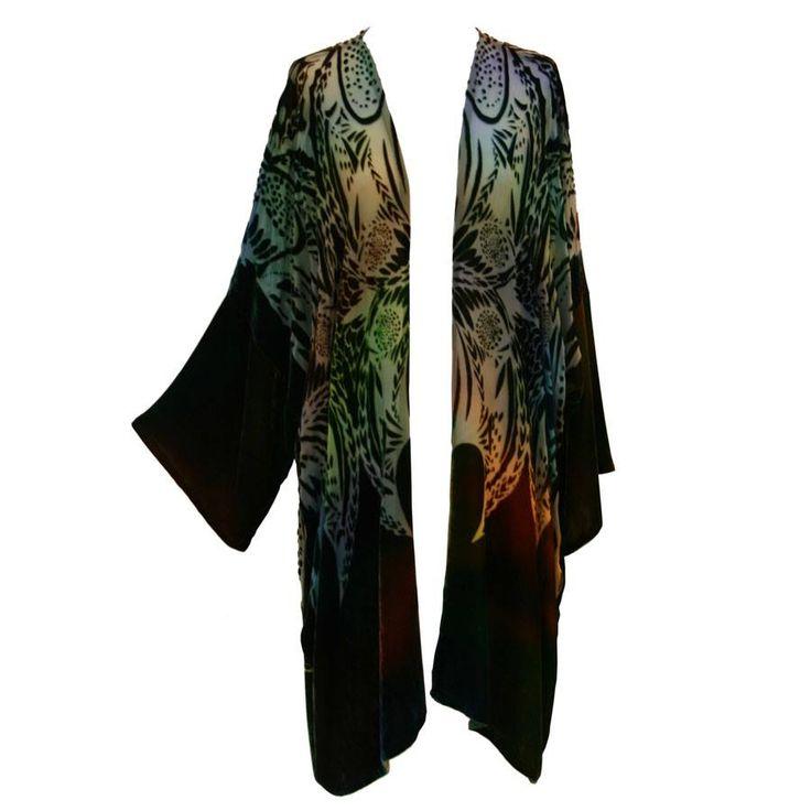 Velvet Square Coat in Woodland