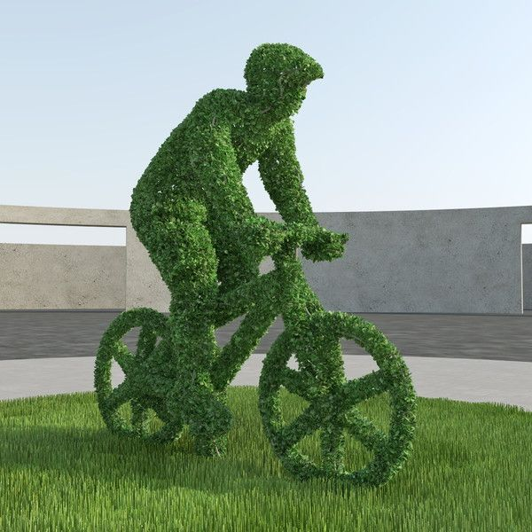 bicyclist topiary sculpture 3d model - Bicyclist Topiary Sculpture... by Credo Studio
