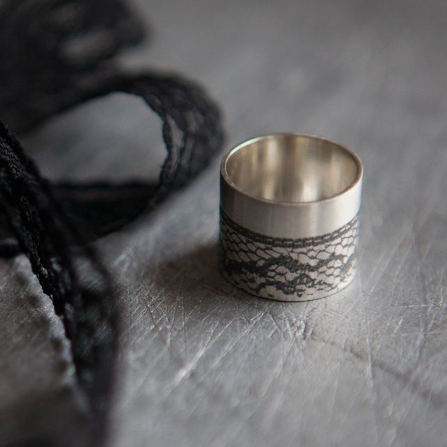 Black Lace Statement Ring £60.00