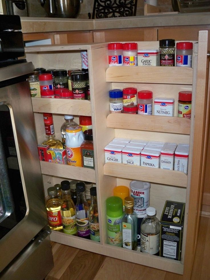 17 Best ideas about Pull Out Spice Rack on Pinterest | Slide out pantry,  Kitchen spice rack interior and