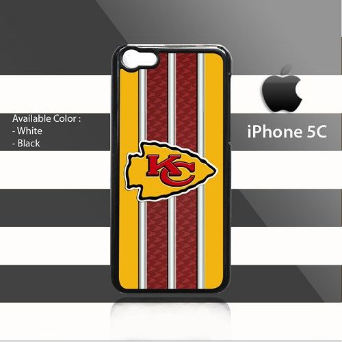 KANSAS CITY CHIEFS Pattern Stripes iPhone 5c Rubber Case Cover