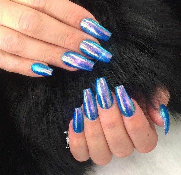 Sexy Slut With Blue Fingernails