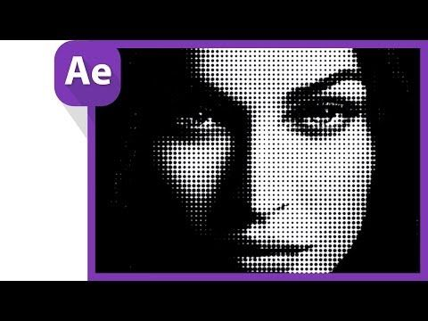 After Effects Tutorial: halftone effect