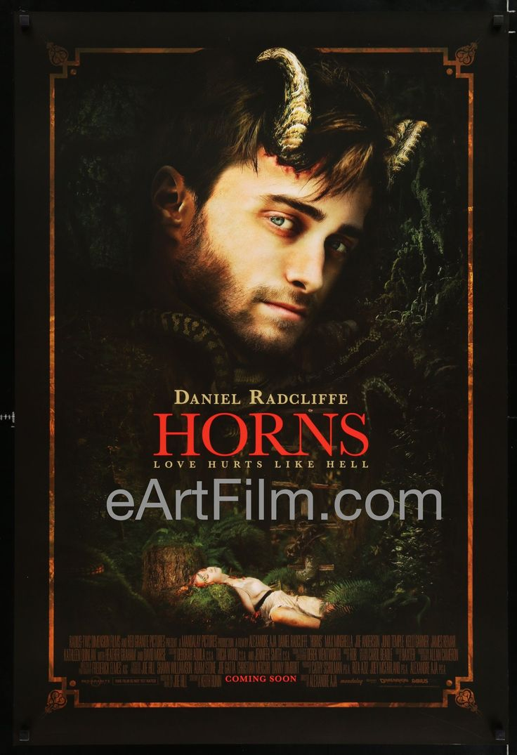 Happy Birthday #DanielRadcliffe https://eartfilm.com/search?q=daniel+radcliffe #actors #Broadway #theater #HarryPotter #VictorFrankenstein #Horns #KillYourDarlings #movie #movies #poster #posters #film #cinema #movieposter #movieposters    Horns-Daniel Radcliffe-Heather Graham-James Remar-Adv