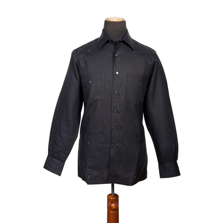 #camisa #cubana #LaPuente #modahombe #men #style #negra #hilo #100%