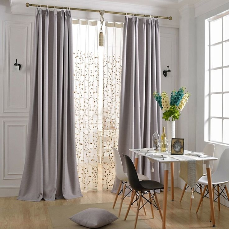 Simple But Graceful Modern Light Grey Curtains Grey