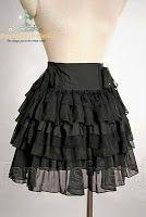 """Victorian Nonsense: Make your own """"Gothic Lolita/Kuro Lolita"""" inspired ruffled skirt"""