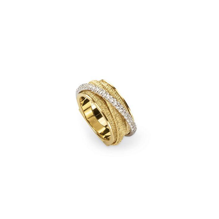 Marco Bicego Diamond Cairo 18k Five-Strand Ring with Diamond Accent xHZn6