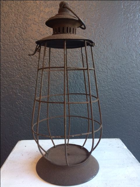rustic brown lanterns for round tables & coffee tables
