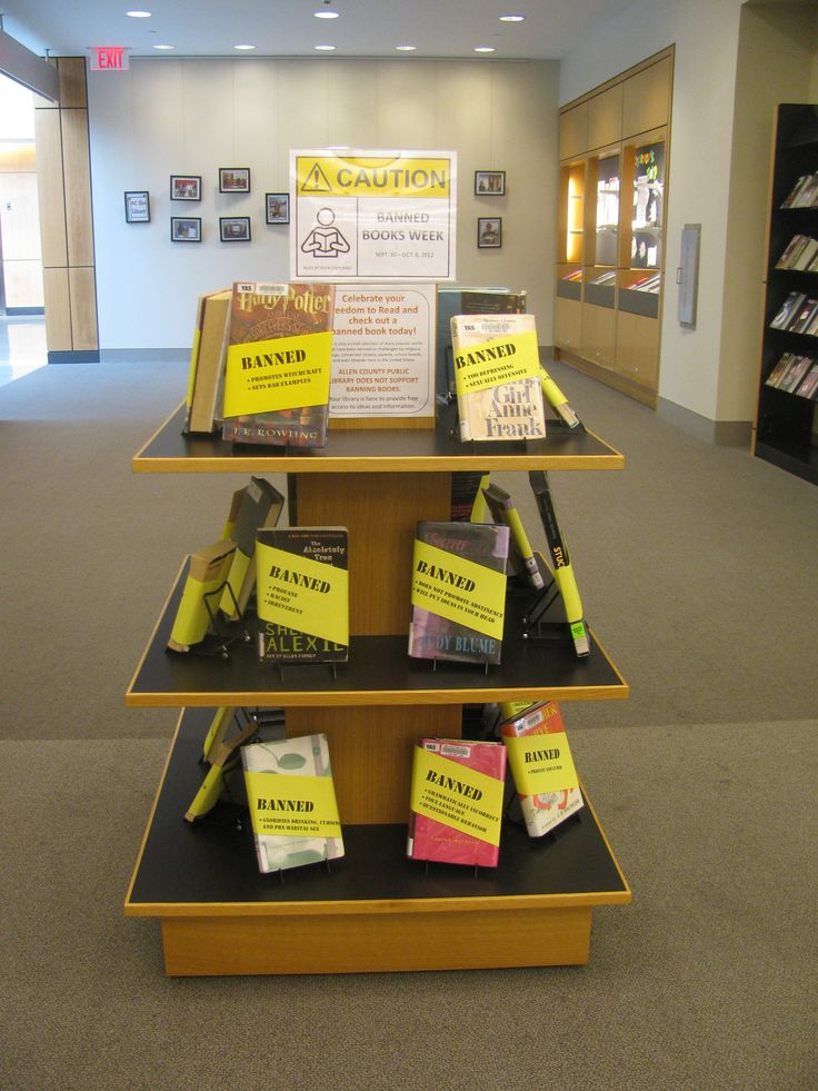 Banned Books Display banned books library Library