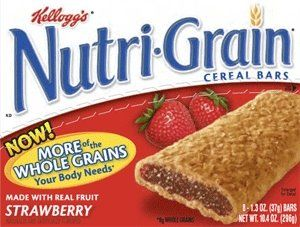 Nutri-Grain Bars  IMPORTANT: Please read ingredient labels. Manufacturers continually change packaging  and processing.