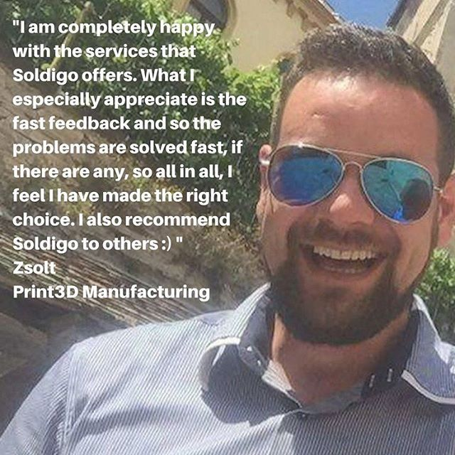 Thank you for the amazing testimonial on Soldigo, this is why we do this! Make sure to read our interview with Zsolt, the owner of #print3dmanufacturing and discover his 3D printing story. https://soldigo.com/blog/lets-read-the-3d-printing-story-of-print3d-manufacturing/amp #3dprinting #3dprinter #manufacture #makealivingdoingwhatyoulove #sellonlinewithsoldigo