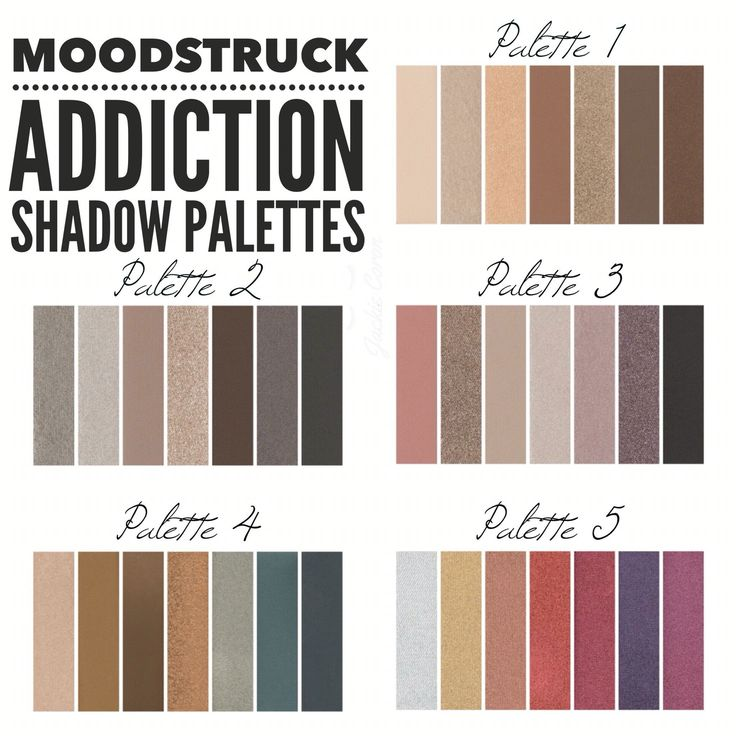 All 5 Younique Addiction Palettes! ❤️