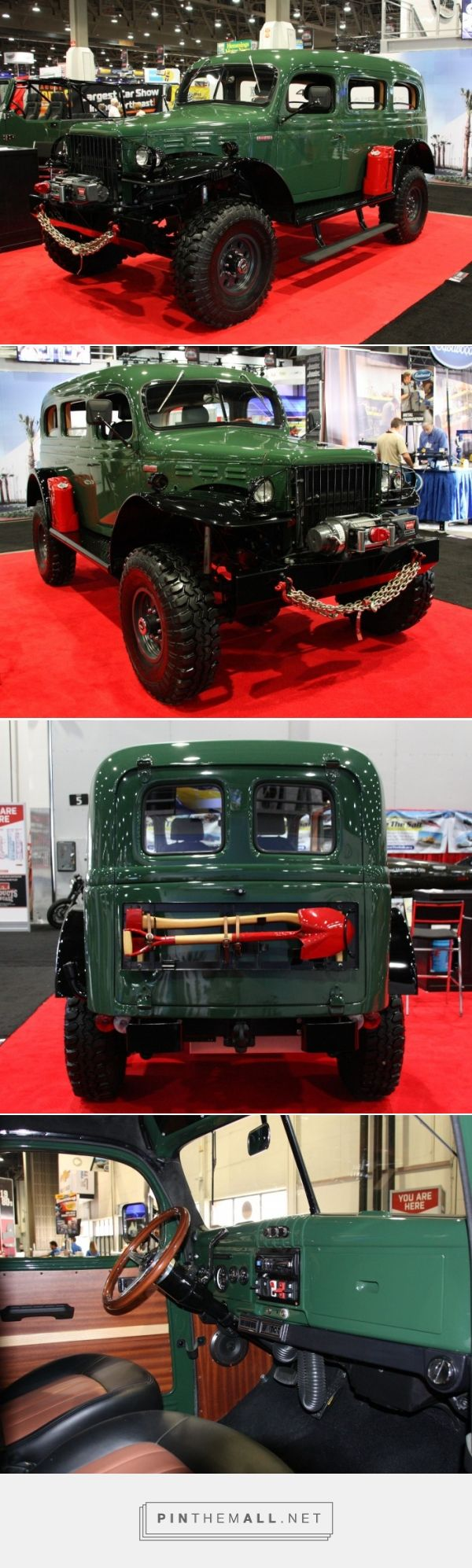 """Wish you could buy a modern Dodge Power Wagon? Wish no more. Power comes from the customer's choice of a 6.2-liter, 430-horsepower Chevrolet LS3 V-8 (to which purists would cry """"blasphemy"""") or a 3.9-liter inline six four-cylinder Cummins turbo diesel, which delivers 480 pound-feet of torque yet reportedly returns 24 MPG highway fuel economy. - created via https://pinthemall.net"""