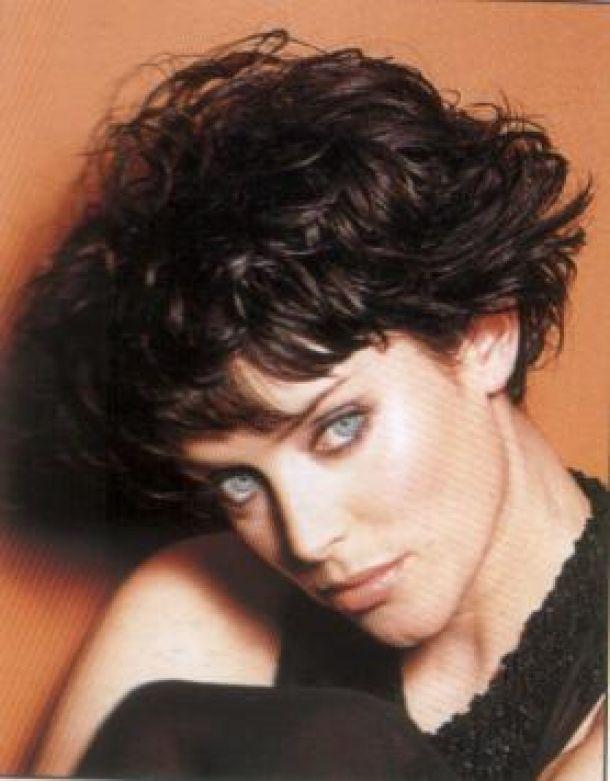 short sassy curly hair