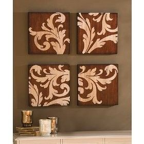 Canvas And Stencil Wall Art