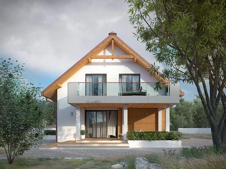 Amarylis 6 (156,01 m2) to projekt domu na wąską działkę z garażem w bryle budynku. Pełna prezentacja projektu znajduje się na stronie: https://www.domywstylu.pl/projekt-domu-amarylis_6.php. #amarylis #projektydomow #projektydomów #projektygotowe #domywstylu #mtmstyl #dom #domy #architektura #arcitecture #home #houses #moderndesign #housesdesign