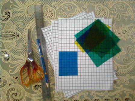 Media pembelajaran yang digunakan untuk belajar menghitung luas persegi dan persegi panjang.