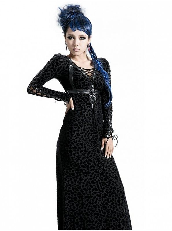 #Black Beauty! Find Fabulous Designer GOTHIC PUNK WILDNESS LONG DRESS which is Sexy, Elegant, Cute and At Prices you won't believe and You'll Love to get it @ goo.gl/mFZHhr