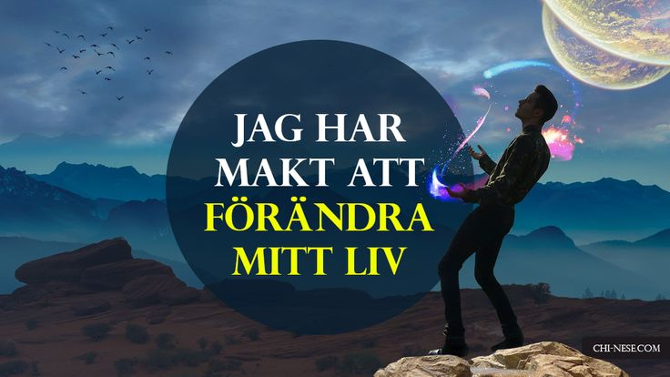 """""""Jag har makt att förändra mitt liv"""" ✨ #attraktionslagen #affirmationer #svenska"""