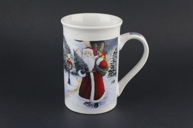 Royal Norfolk Christmas Coffee Cup Mug Old Time Victorian Village Santa Holiday #RoyalNorthfolk