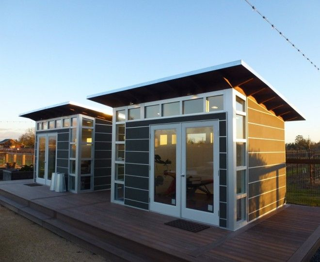 Superb Backyard Sheds  look San Francisco Modern Garage And Shed Decorators with  clerestory windows glas doors home gym home office office shed shed roof studio studio