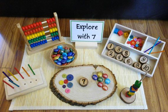 Loose Parts Number Exploration, Math Activity, Fine Motor Skills, Gift for Kids, Montessori Classroom, Reggio Emilia, Teacher Resources