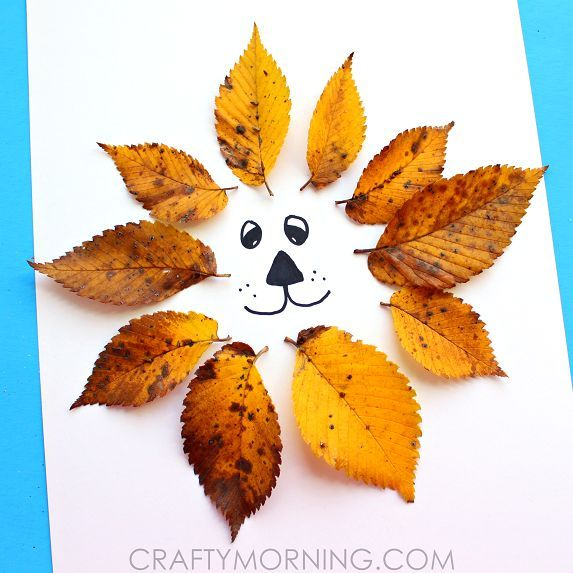 Easy Leaf Lion Kids Craft for Fall - Crafty Morning                                                                                                                                                                                 More