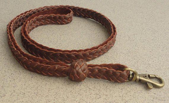 Handmade braided leather lanyard Braided Leather keychain