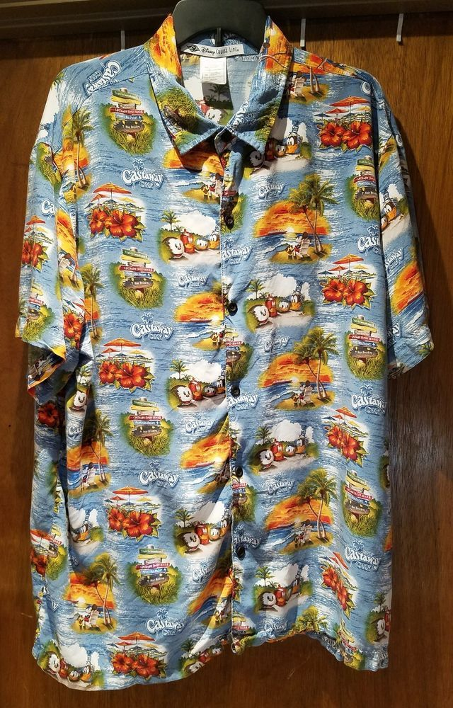 3ff1bb90 Disney Cruise Line Castaway Cay Hawaiian Shirt Aloha XL  #DisneyParksExclusive