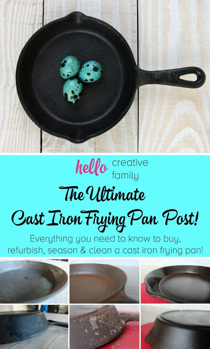 how to clean rock frying pan