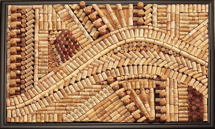 Wine Cork Art amazing! More amazing pieces on her website.