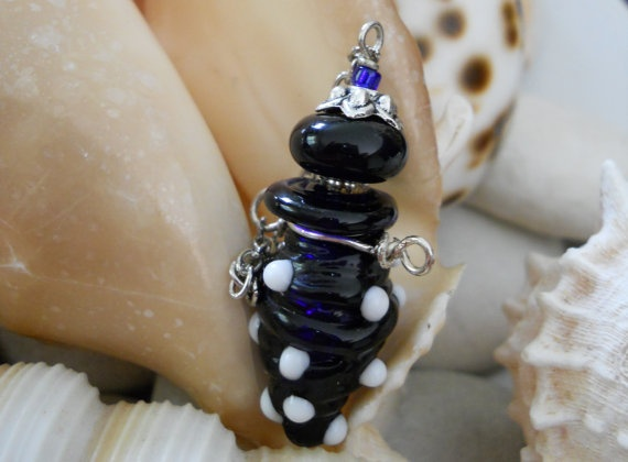 Miniture Bottle Necklace Hand Blown Glass by JewelleryByJody, $45.00