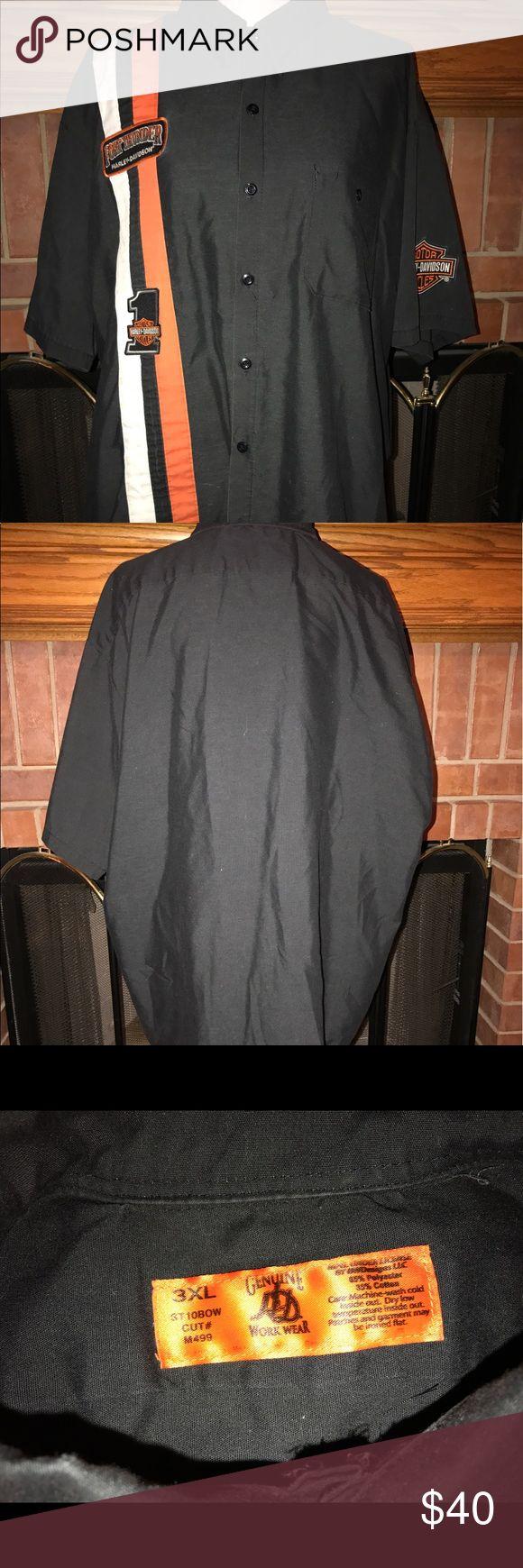Men's Harley Davidson shop shirt Fort Thunder Harley Davidson shop shirt. Good condition! 65% polyester, 35% cotton. Size 3XL. NO TRADES! #93 Harley-Davidson Shirts Tees - Short Sleeve