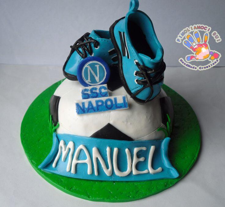 Cake Topper Soccer in fimo HandMade Base cm 14 H. cm 10,5 Circonferenza pallone cm 9 Scarpe cm 5,5 e H. cm 2,5