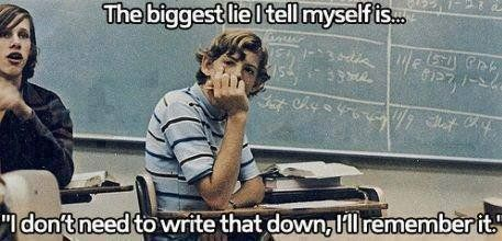 "Science 的 Twitter: ""The biggest lie I tell myself is .. ""I don't need to write that down, I'll remember it"" https://t.co/X2XpjuIqkj"""