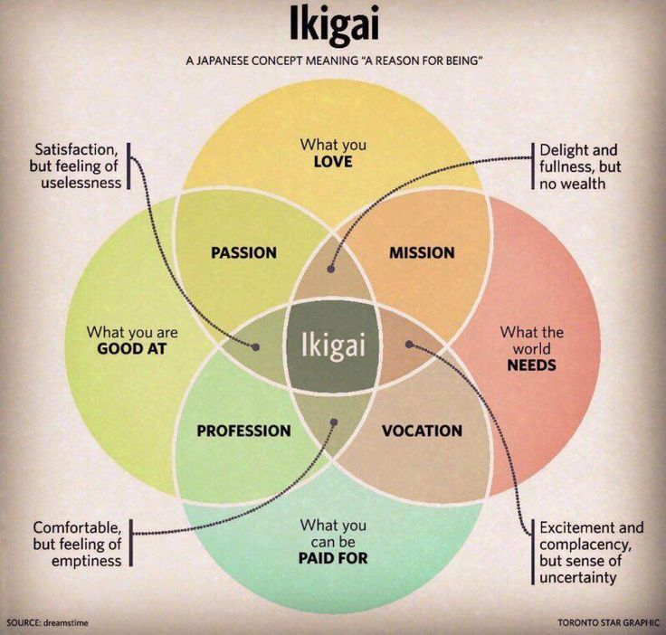"""Ikigai: a Japanese concept meaning """"a reason for being"""" 🙂"""