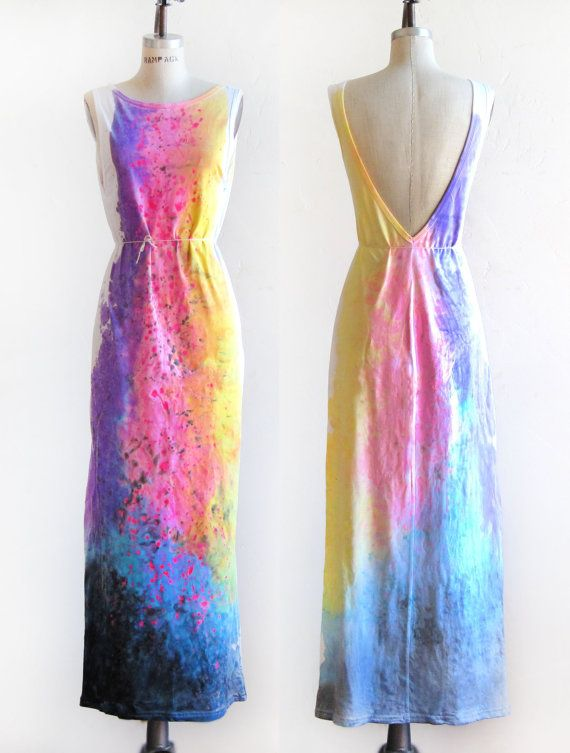 The Original Splash Dyed Hand PAINTED Deep V by twostringjane » This is beautiful, I love it!