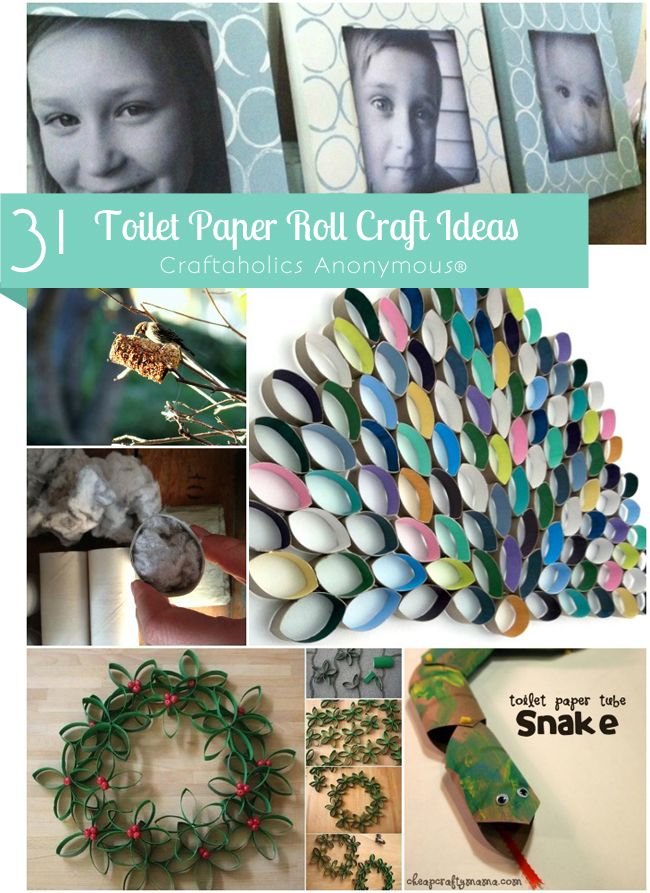 lots of fantastic Toilet Paper Roll Crafts! Ideas range from useful to decorative