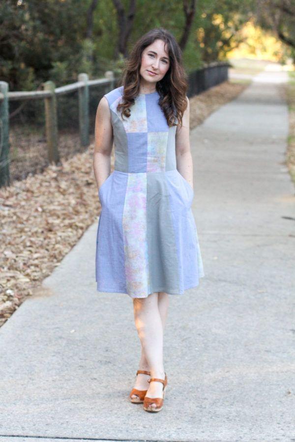 Sleeveless scrappy Karri dress http://blog.megannielsen.com/2017/02/sleeveless-scrappy-karri-dress/?utm_campaign=coschedule&utm_source=pinterest&utm_medium=Megan%20Nielsen%20Patterns&utm_content=Sleeveless%20scrappy%20Karri%20dress
