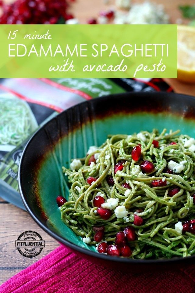 Nutrient-rich Edamame Spaghetti coated in a creamy avocado pesto is bursting with flavor, and comes together so easy and quick, in only 15 minutes!