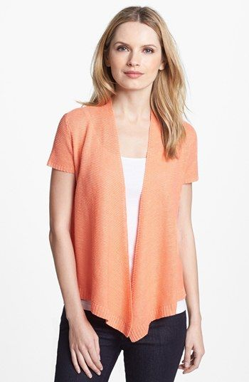 Eileen Fisher Short Sleeve Cardigan (Petite) available at #Nordstrom