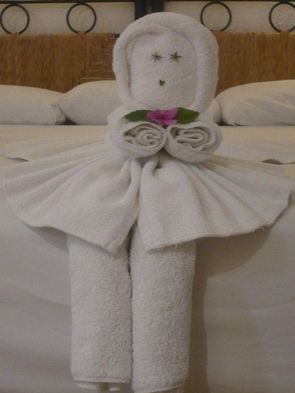 30 creative towel origami diys towel origami baby dolls