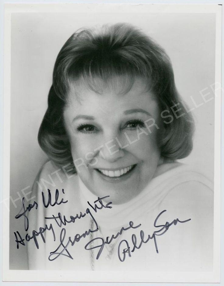 JUNE ALLYSON - Original SIGNED Photo! Autographed Movie Star Actress Autograph